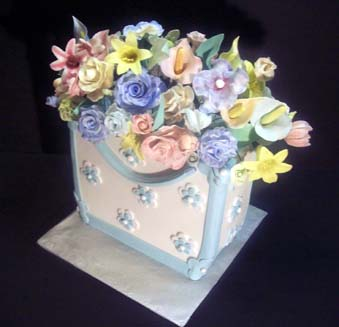 Attaching Gumpaste Flowers To Buttercream Cake