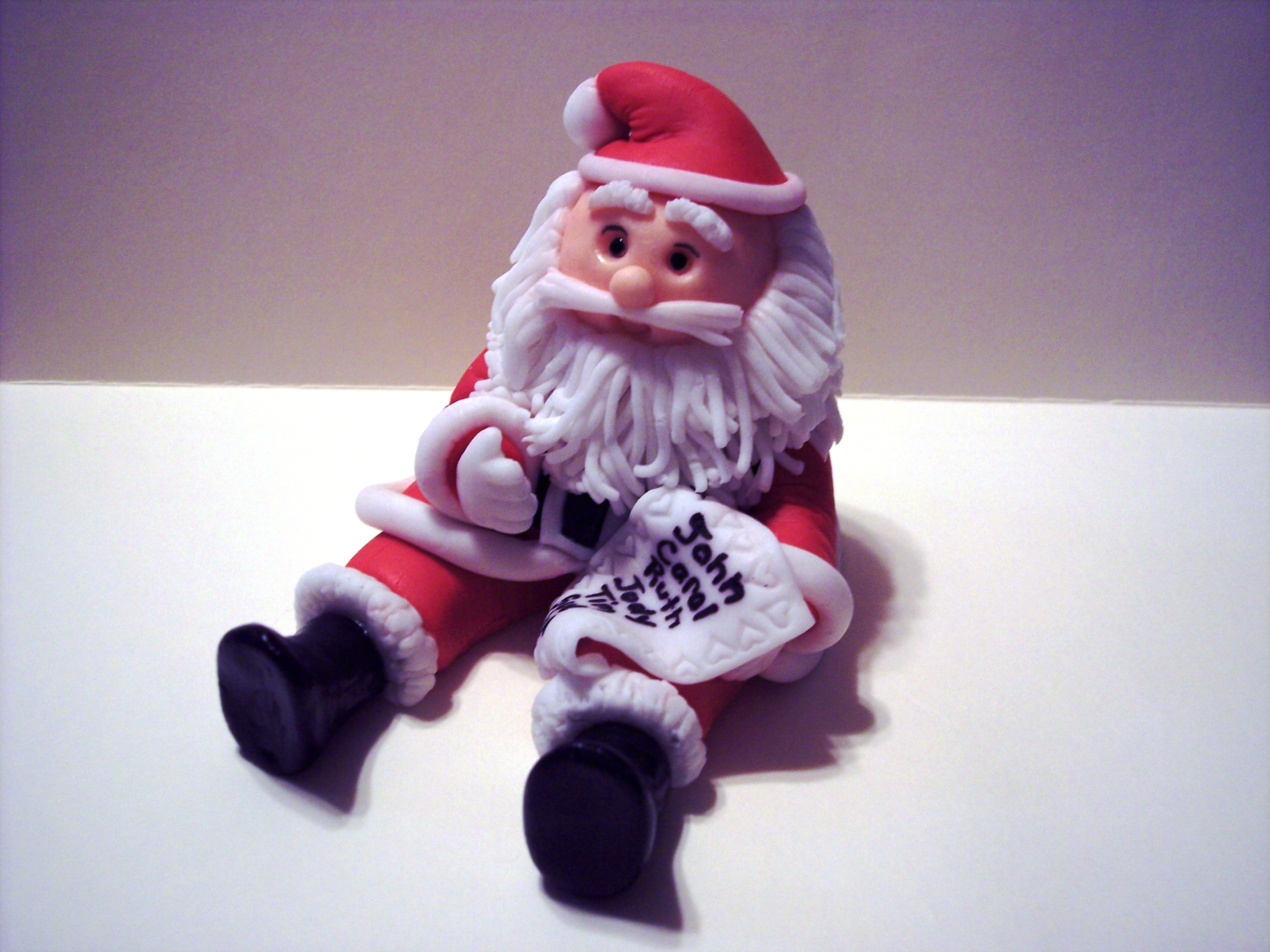 How to make a father christmas cake decoration - Gumpaste Santa Cake Topper
