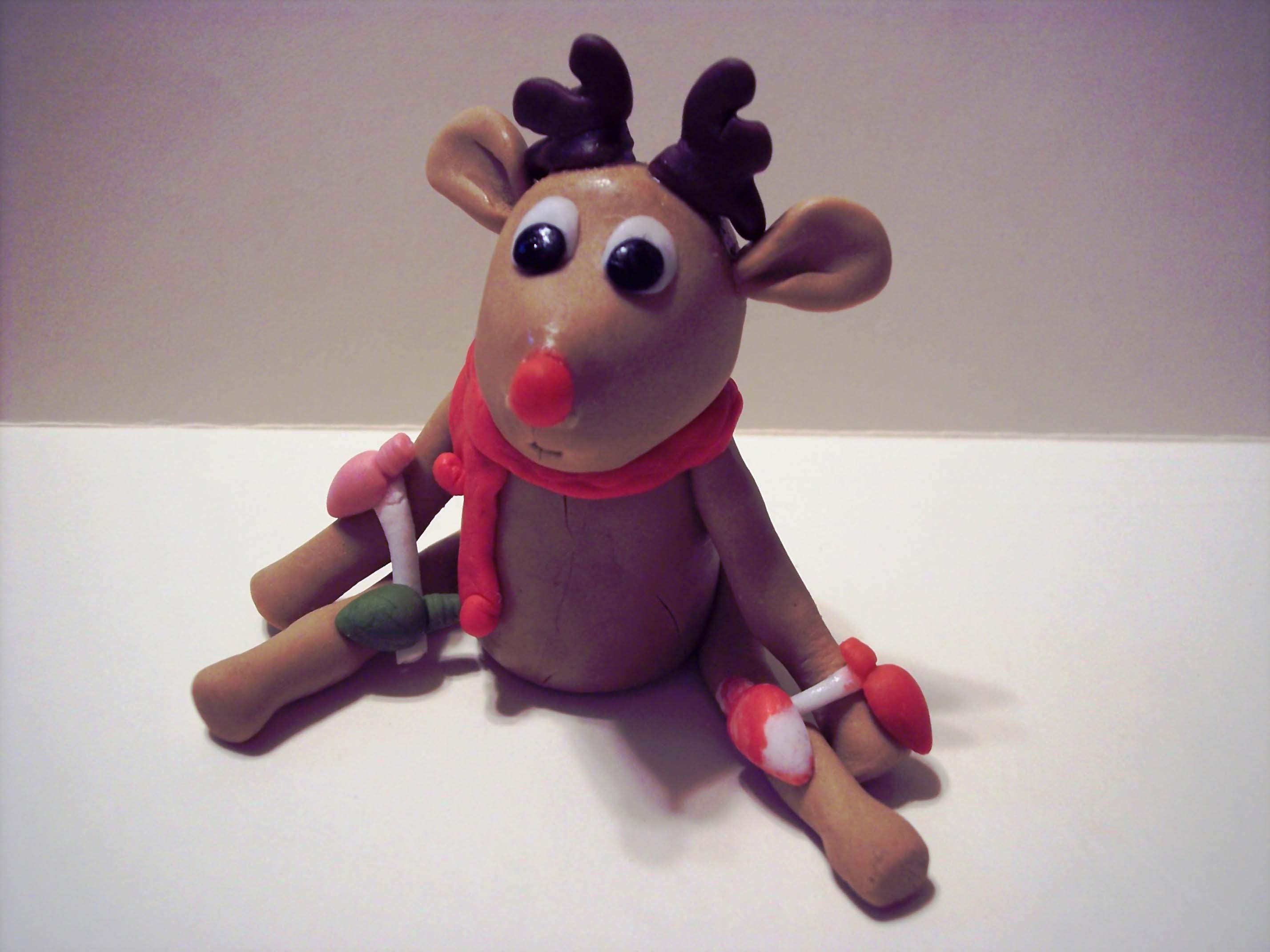 Cake Decorating Animal Figures Gumpaste Reindeer The Sugar Lane