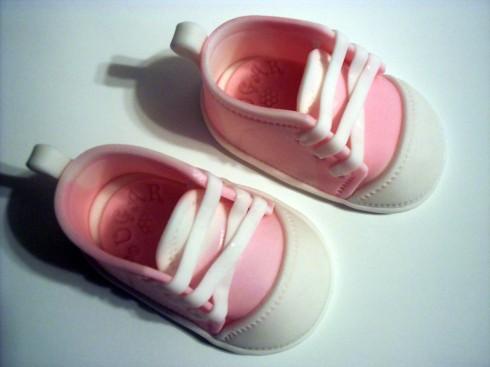 Gumpaste Baby Sneakers Cake Topper