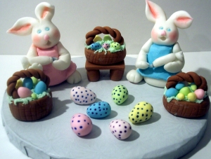 Easter Bunnies, cake topper