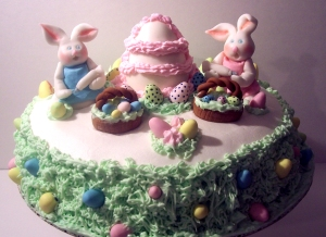 The Decorating Bunnies Cake