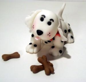 Scuddles the Gumpaste Puppy