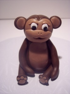 donna's gum paste monkey