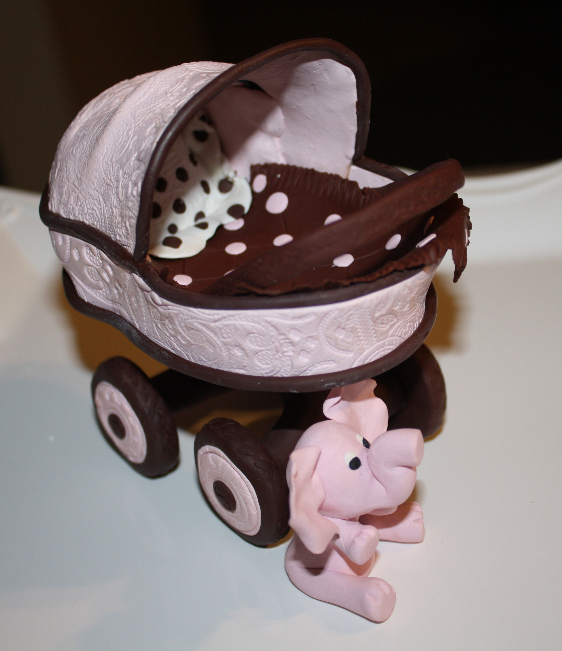 cake recently and then create a baby carriage cake topper instead of ...